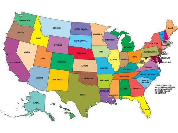 Que savez-vous des Etats américains?