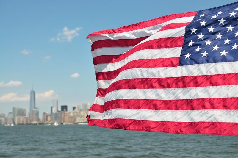drapeau américain new-york